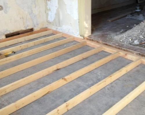 Как стелить лаги для деревянного пола