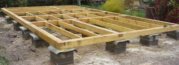 Фундамент под деревянный пол