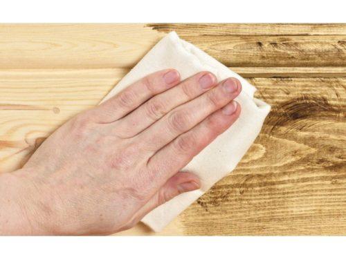 отделка деревянного пола воском