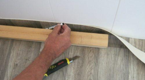 линолеум на деревянный пол