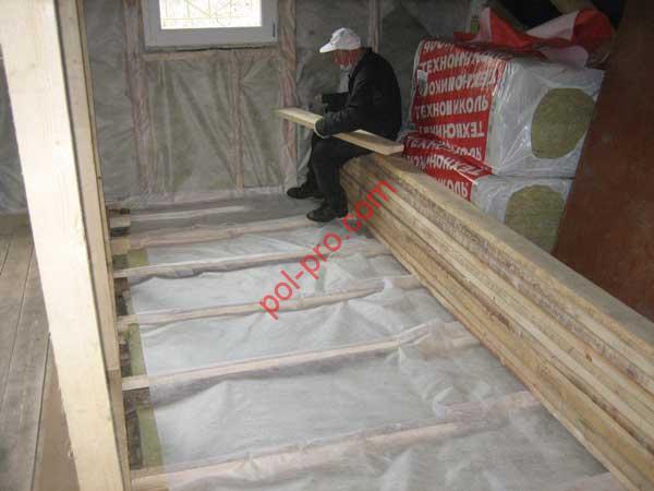 паровая изоляция пола в деревянном доме