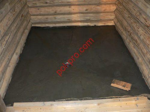 бетонный пол в баню