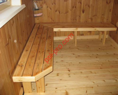 деревянный пол в баню