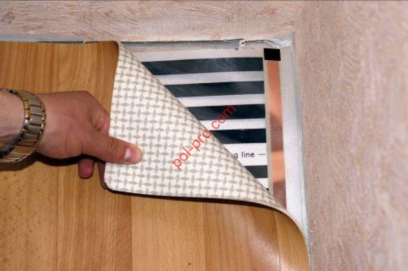улажить инфракрасный пленочный пол под линолеум