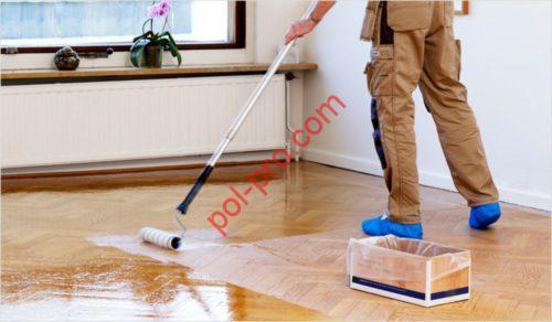 деревянный пол покрыть лаком