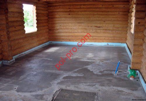 Бетонные полы в деревянном доме