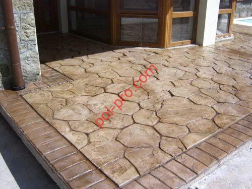 Декоративный бетон для веранды.