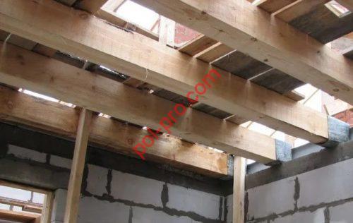 перекрытие для деревянного пола