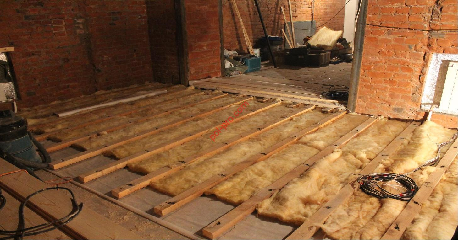 Как сделать тёплый деревянный пол в частном доме своими руками