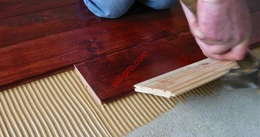 Tehnologija polaganja talnih plošč na vezane plošče
